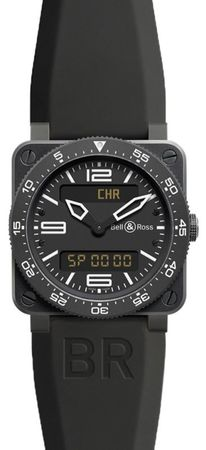Bell & Ross Aviation   Men's Watch BR03 Type Aviation Carbon