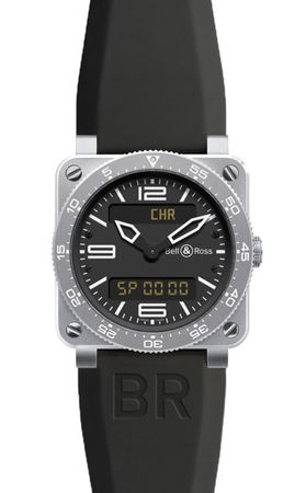 Bell & Ross Aviation   Men's Watch BR03 Type Aviation Steel