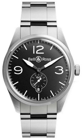 Bell & Ross Vintage   Men's Watch BR-123-Original-Black-Steel