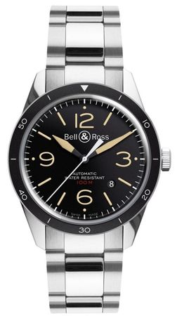 Bell & Ross Vintage   Men's Watch BR 123 Sport Heritage -Black-Steel