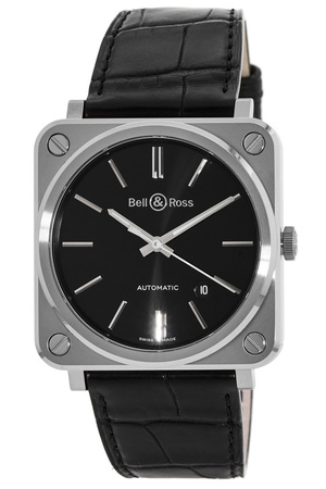 Bell & Ross BR S-92 Black Steel  Men's Watch BRS92-BLC-ST/SCR