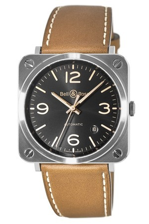 Bell & Ross Aviation   Unisex Watch BRS92-G-HE-ST