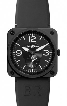 Bell & Ross Aviation   Unisex Watch BRS-Black-Matte-Ceramic