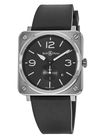 Bell & Ross Aviation  Ceramic Black Dial Quartz Men's Watch BRS-BLC-ST