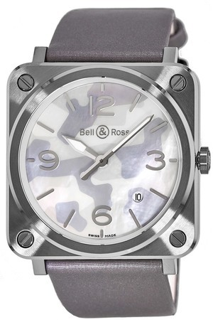 Bell & Ross Aviation   Men's Watch BRS-CAMO-ST-SSA