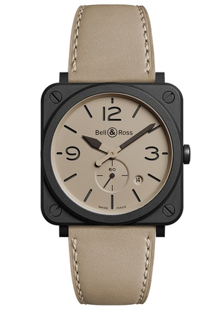Bell & Ross Aviation  BR S Ceramic Desert Type Men's Watch BRS-DESERT-CEM