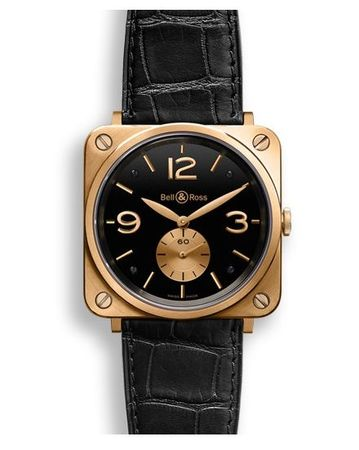 Bell & Ross Aviation   Men's Watch BRS-PKGOLD-BLACK_D