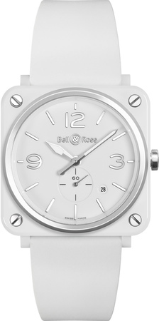 Bell & Ross Aviation   Men's Watch BRS-WH-CES/SRB