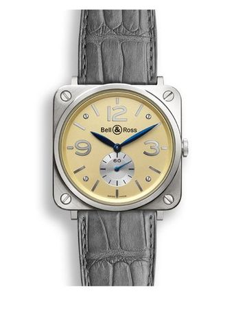 Bell & Ross Aviation   Men's Watch BRS-WHGOLD-IVORY_D