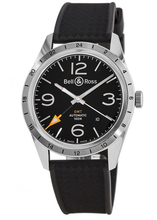 Bell & Ross Vintage  BR 123 GMT 24H Men's Watch BRV123-BL-GMT/SRB