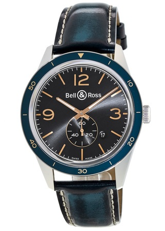 Bell & Ross Vintage  Aeronavale Blue Men's Watch BRV123BLU-ST/SCA