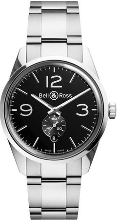 Bell & Ross Vintage  BR 126 GT Steel Men's Watch BRV123-BS-ST/SST