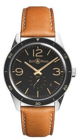 Bell & Ross Vintage  BR 123 Golden Heritage Men's Watch BRV123-GH-ST/SCA