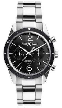 Bell & Ross Vintage  BR 126 Sport Steel Men's Watch BRV126-BL-BE/SST
