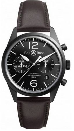 Bell & Ross Vintage  BR 126 Original Carbon Men's Watch BRV126-BL-CA/SCA