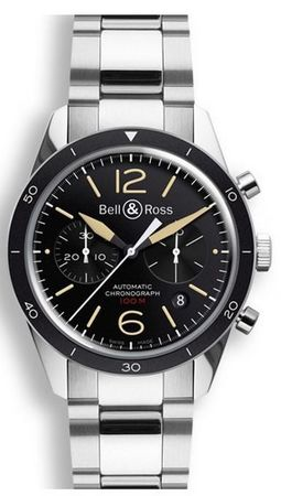 Bell & Ross Vintage  BR 126 Sport Heritage Steel Men's Watch BRV126-ST-HER/SST