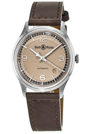 Bell & Ross BR V1-92 Bellytanker Limited Edition Brown Leather Men's Watch BRV192-BT-ST/SCA