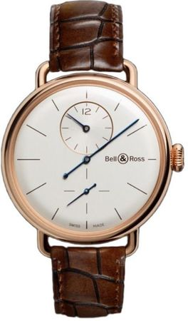 Bell & Ross Vintage  WW1 Regulateur Rose Gold Men's Watch BRWW1-REG-PG/SCR