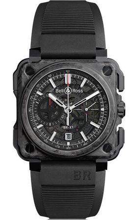 Bell & Ross Aviation  BR-X1 Carbone Rorge Men's Watch BRX1-CE-CF-BLACK