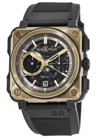 Bell & Ross BR-X1  Rose Gold & Ceramic Limited Edition Men's Watch BRX1-CE-PG