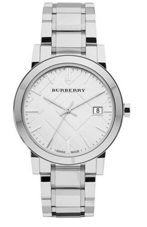 Burberry   Large Check Silver Dial 38mm Midsize Unisex Watch BU9000