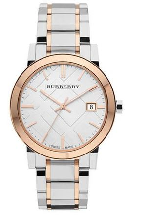 Burberry   Silver Dial Two-Tone Stainless Steel Unisex Watch BU9006