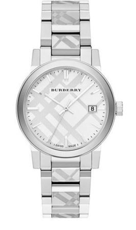 Burberry   Stainless Steel Burberry Checked Trademark Unisex Watch BU9037