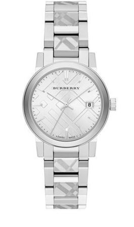 Burberry   Stainless Steel Burberry Checked Trademark Women's Watch BU9144