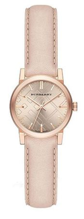Burberry   Pink Leather Rose Gold Women's Watch BU9210