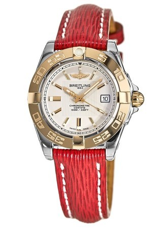 Breitling Galactic 32 Steel and Rose Gold Red Sahara Leather Women's Watch C71356L2/G704-209X