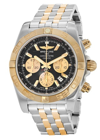 Breitling Chronomat 44 Gold & Steel Men's Watch CB011012/B968-TT