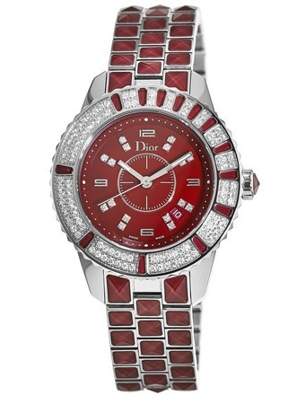 Dior Christal 33mm Red Diamond Dial Women's Watch CD11311HM001