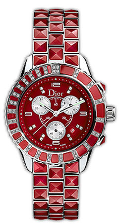 Dior Christal 38mm Red Chronograph Women's Watch CD11431GM001
