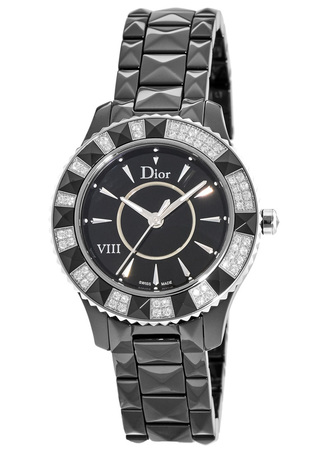 Dior Dior VIII 33mm Diamond Bezel Black Ceramic Women's Watch CD1231E1C001