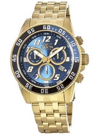 Invicta Pro Diver  50mm Blue Chronograph Dial Gold Tone Swiss Quartz Limited Edition Men's Watch Cruiseline 3