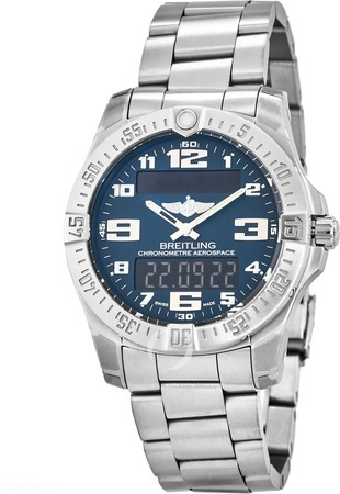 Breitling Professional Aerospace Evo Titanium Blue Dial Men's Watch E7936310/C869-152E