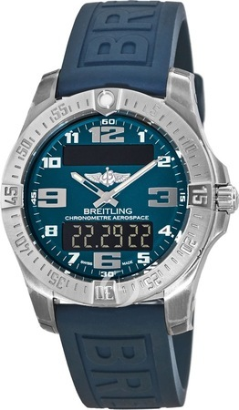 Breitling Professional Aerospace Evo Multifunction Blue Dial & Rubber Strap Men's Watch E7936310/C869-158S
