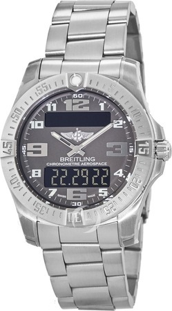 Breitling Professional Aerospace Evo Titanium Grey Dial Men's Watch E7936310/F562-152E