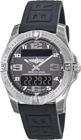 Breitling Professional Aerospace Evo Titanium Grey Dial Rubber Strap Men's Watch E7936310/F562-152S