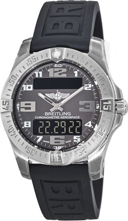 Breitling Professional Aerospace Evo Titanium Grey Dial Rubber Men's Watch E7936310/F562-153S