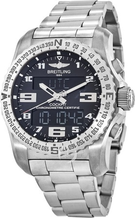 Breitling Professional Cockpit B50 Super Quartz Black Dial Titanium Men's Watch EB501022/BD40-176E