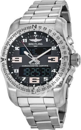 Breitling Professional Cockpit B50 Super Quartz Grey Dial Titanium Men's Watch EB5010B1/M532-176E
