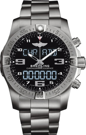 Breitling Exospace B55 Volcano Black Dial Titanium Men's Watch EB5510H1/BE79-181E