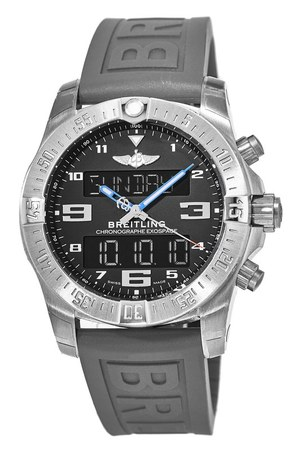 Breitling Exospace B55 Titanium Case Grey Rubber Men's Watch EB5510H2/BE79-245S