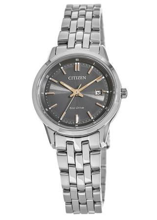 Citizen Corso  Grey Dial Stainless Steel Women's Watch EW2400-58H