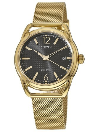 Citizen Drive LTR Gold Tone Mesh Women's Watch FE6082-59E