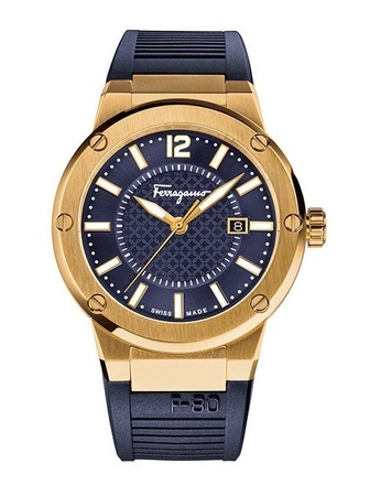 Salvatore Ferragamo F-80  Rose Gold Tone Men's Watch FIF050015