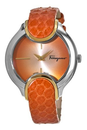 Salvatore Ferragamo Signature  Orange Dial Women's Watch FIZ030015