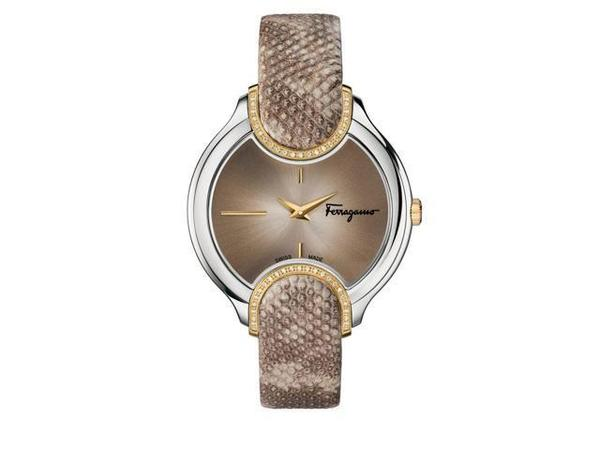 Salvatore Ferragamo Signature  Beige Diamond Women's Watch FIZ060015