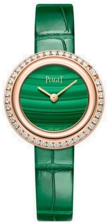 Piaget Possession  Green Dial Green Leather Strap Women's Watch G0A43087